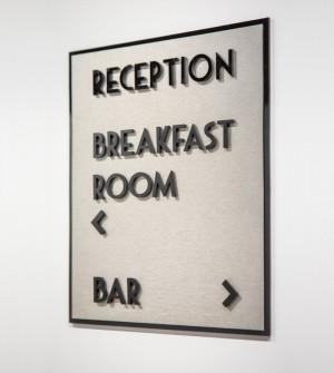 Segnaletica per hotel in Plexiglass