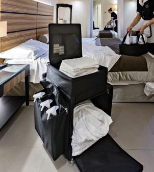 Carrello trolley per pulizie camere hotel