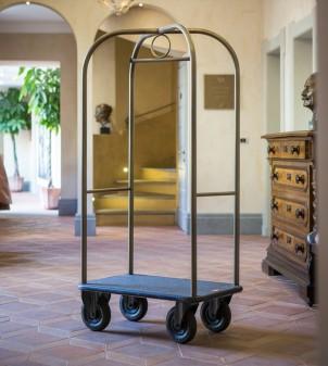 Carrello porta valigie per hotel