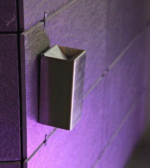 Posacenere a muro con vaschetta estraibile