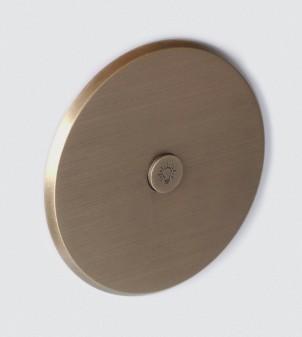 Placca elettrica rotonda in ottone