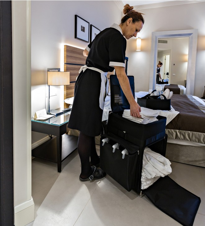 Carrello pulizie hotel