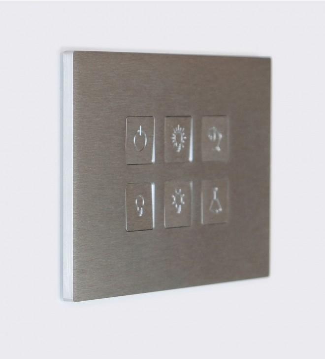 Placche elettriche in acciaio inox con pulsanti