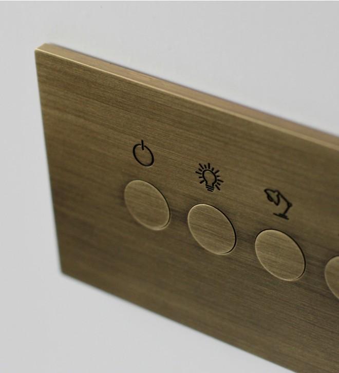 Placca elettrica con pulsanti rotondi