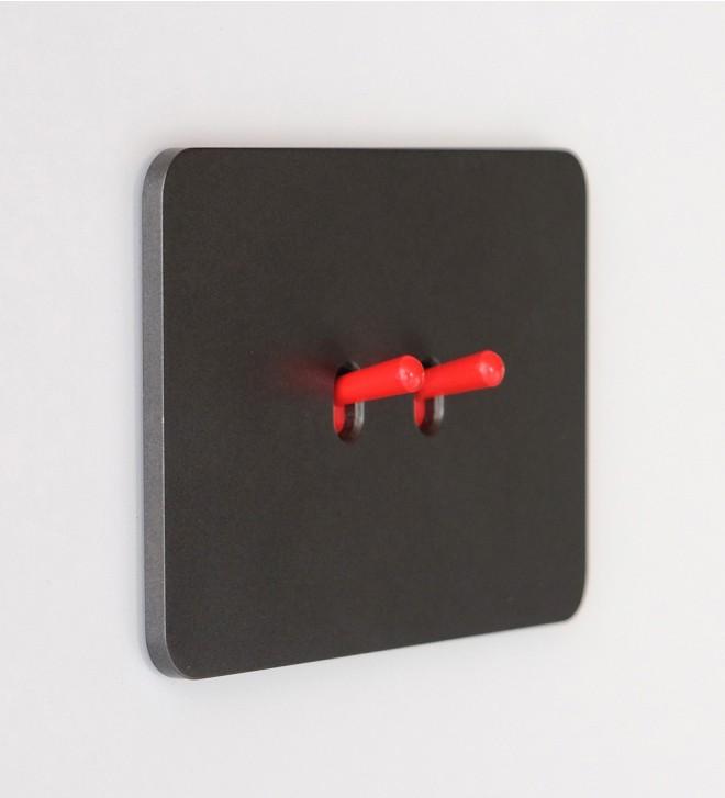 Placca elettrica filo muro con pulsanti