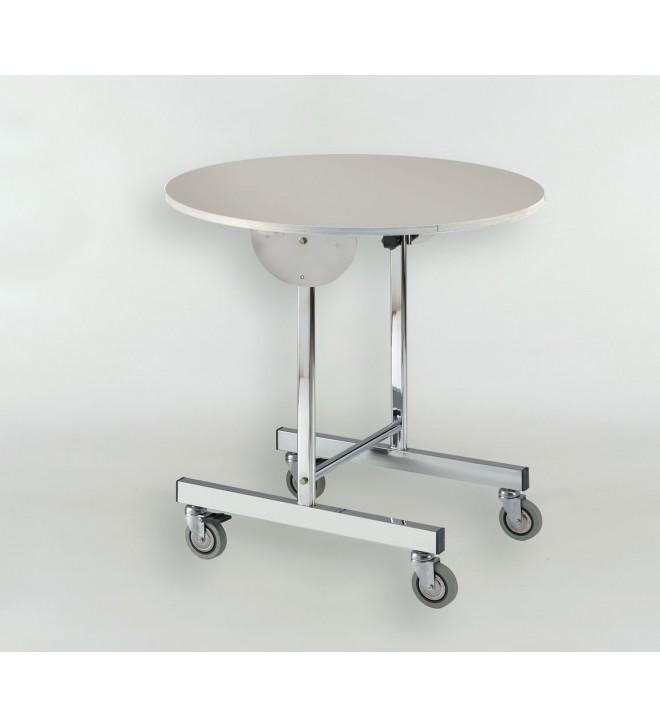 Tavolo pieghevole con ruote