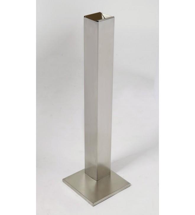 Posacenere a colonna in acciaio satinato