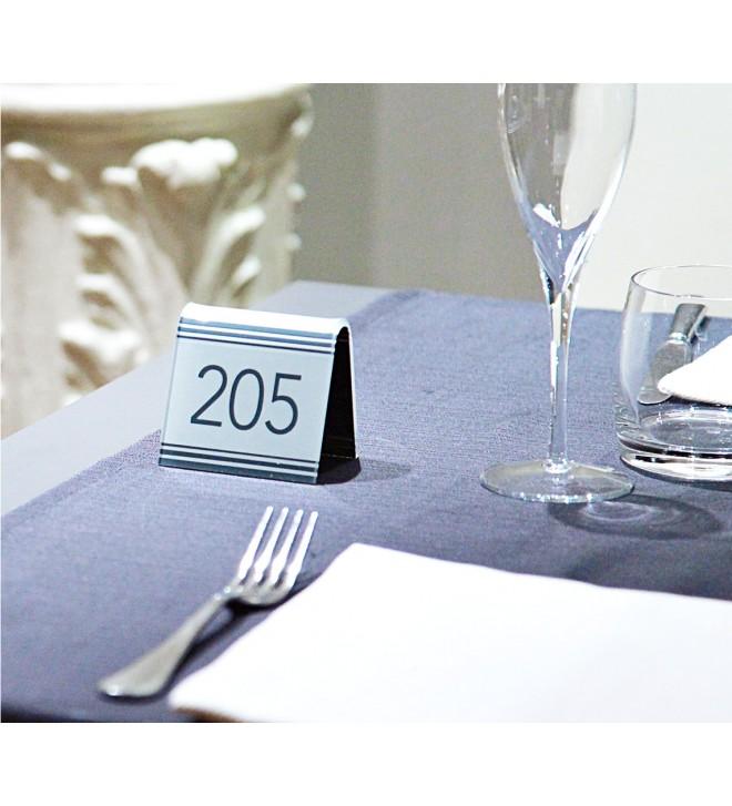 Segnatavolo ristorante con numero tavolo