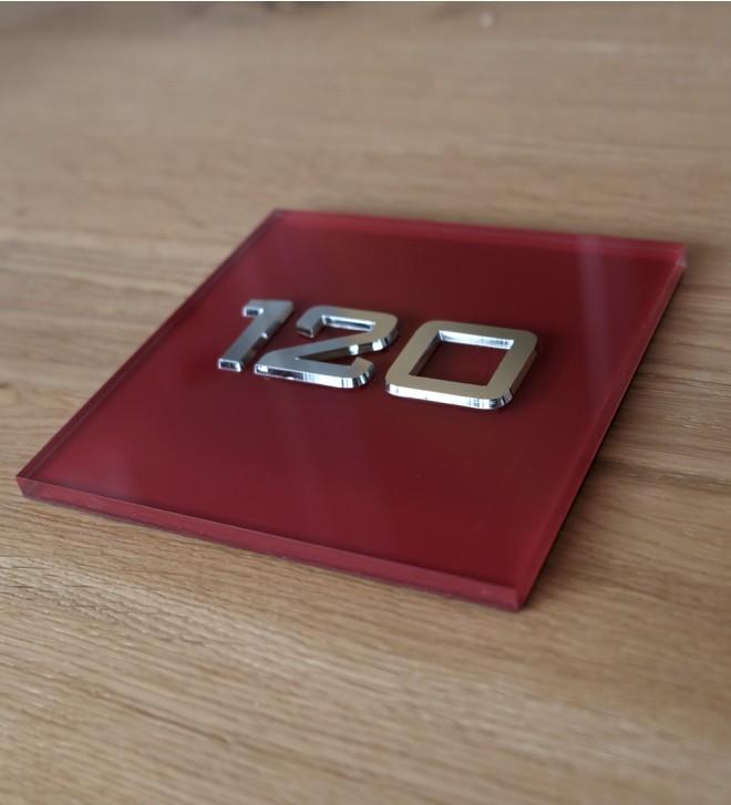 Targhe in Plexiglass con scritte in acciaio inox, e ottone.