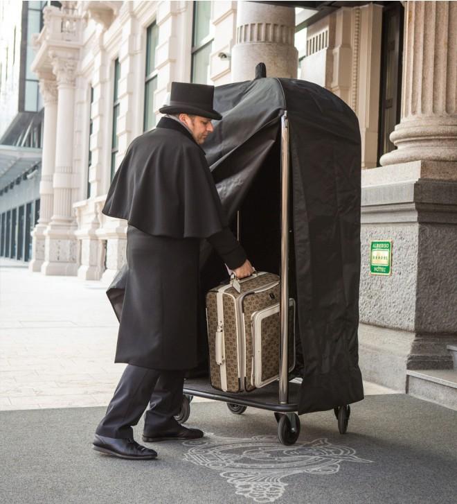 Carrello portavaligie per hotel