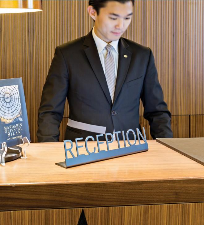 Targa per reception