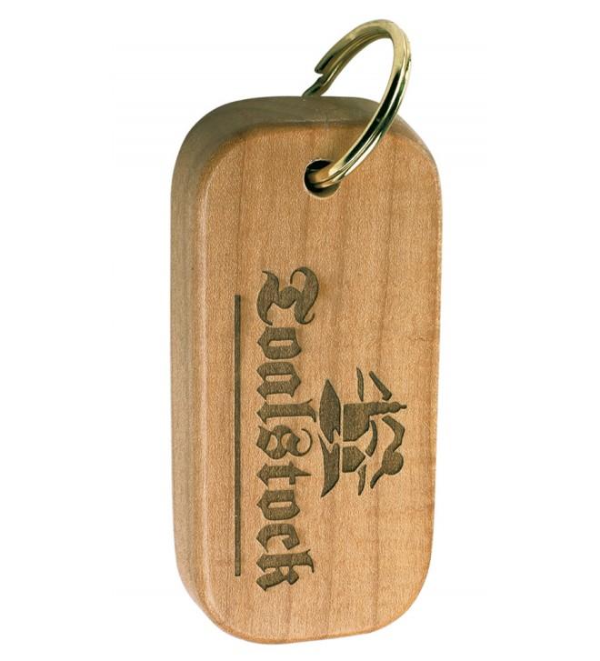 Portachiavi in legno con incisione