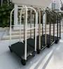 Carrello bagagli in metallo