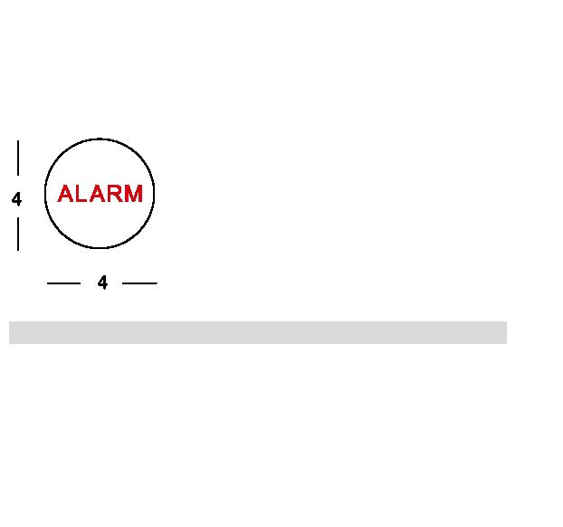 Piastrina allarme doccia