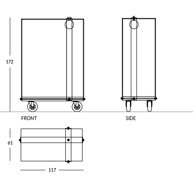Carrello portavaligie design