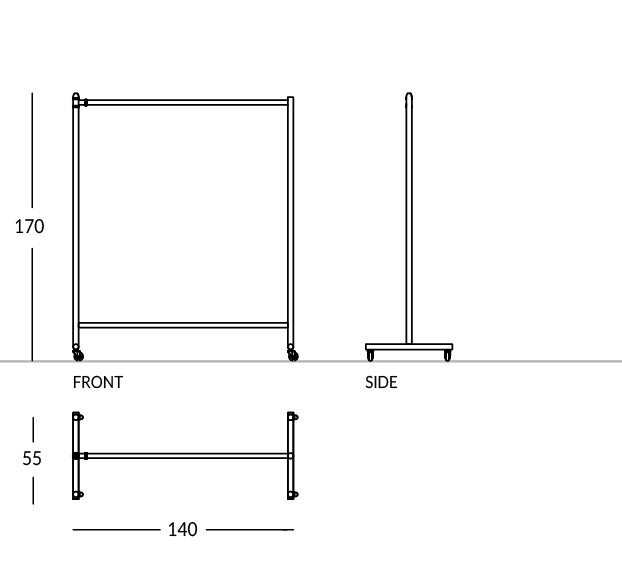 Carrello appendiabiti