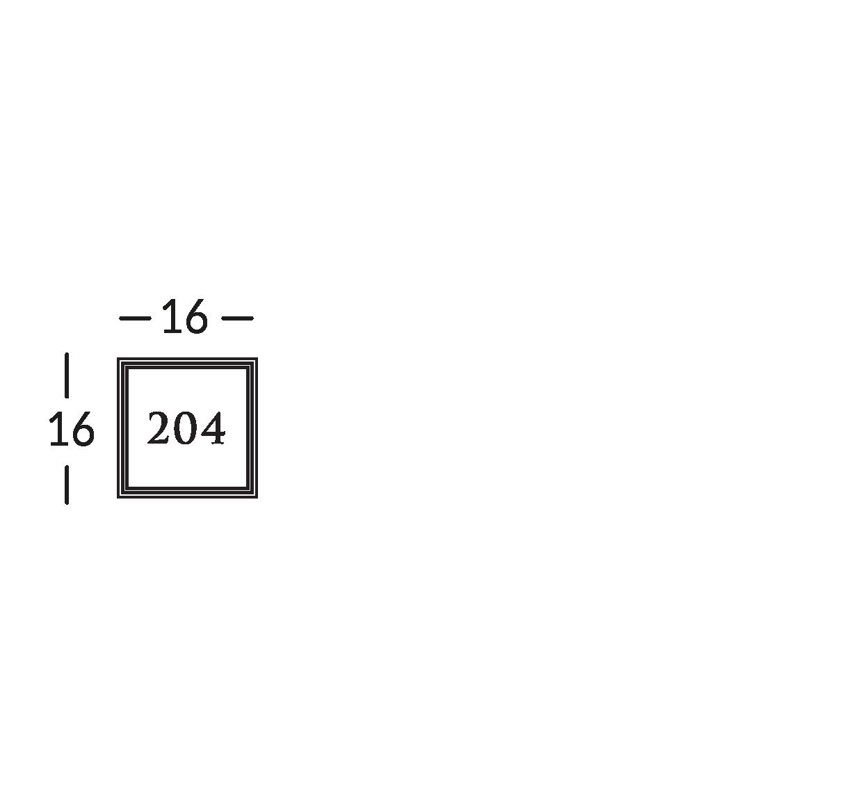 Linea di segnaletica in ottone brunito con incisione in bassorilievo, su supporto in cristallo.
