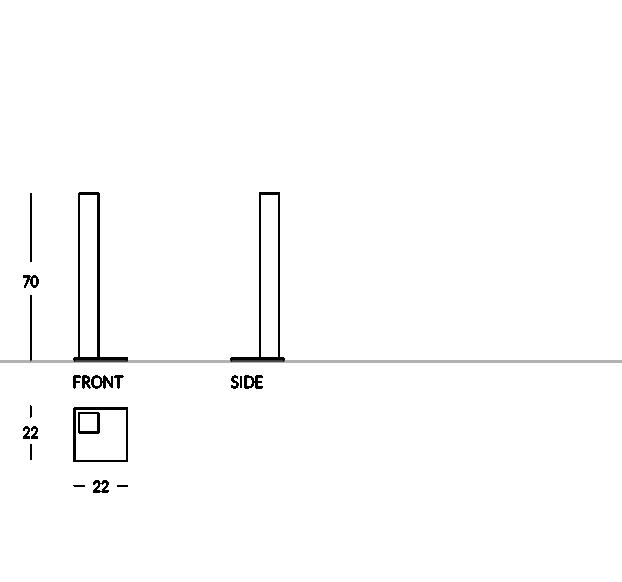 Profilo squadrato e dal design elegante questo posacenere è adatto sia per uso interno che per uso esterno. La colonnina e la base sono completamente realizzate in acciaio satinato o in metallo verniciato. La comoda vaschetta posta nella parte superiore della colonnina è estraibile per facilitarne la pulizia. Il nostro posacenere a colonna ha una base quadrata per essere posizionato in qualsiasi ambiente.