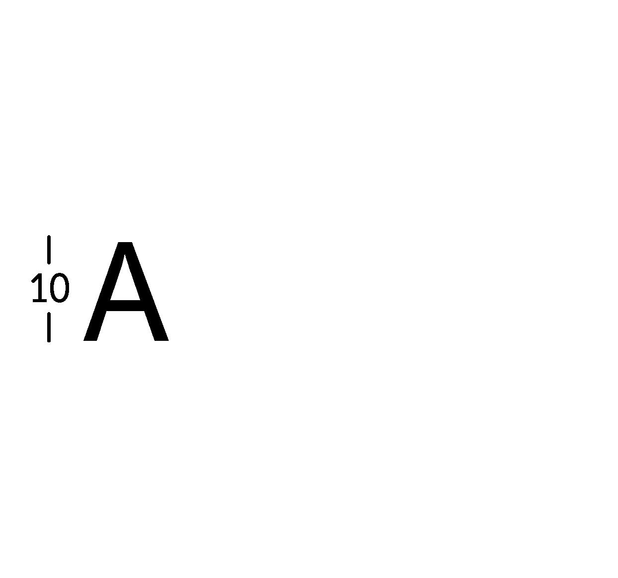 Caratteri ritagliati h10cm