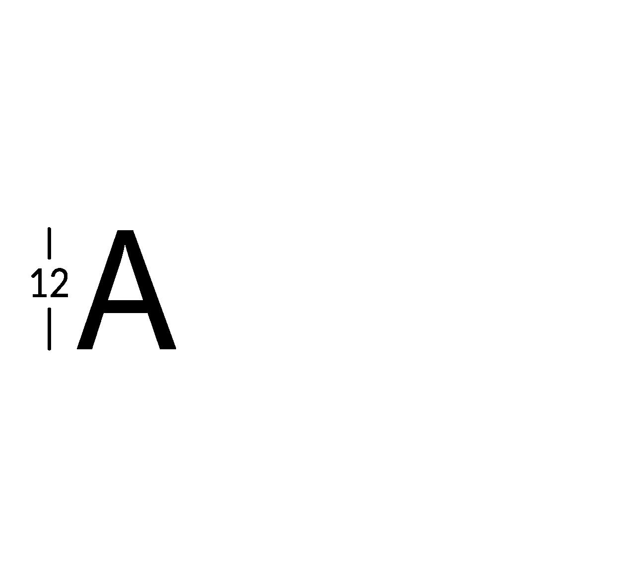 Caratteri ritagliati h12cm
