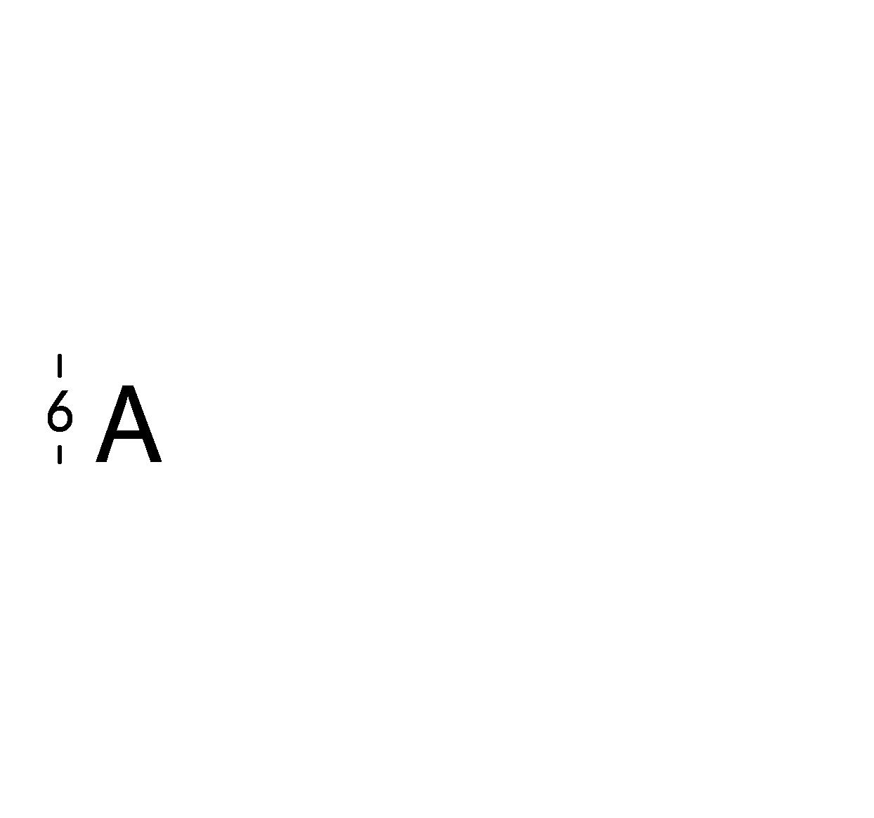 Caratteri ritagliati h6cm