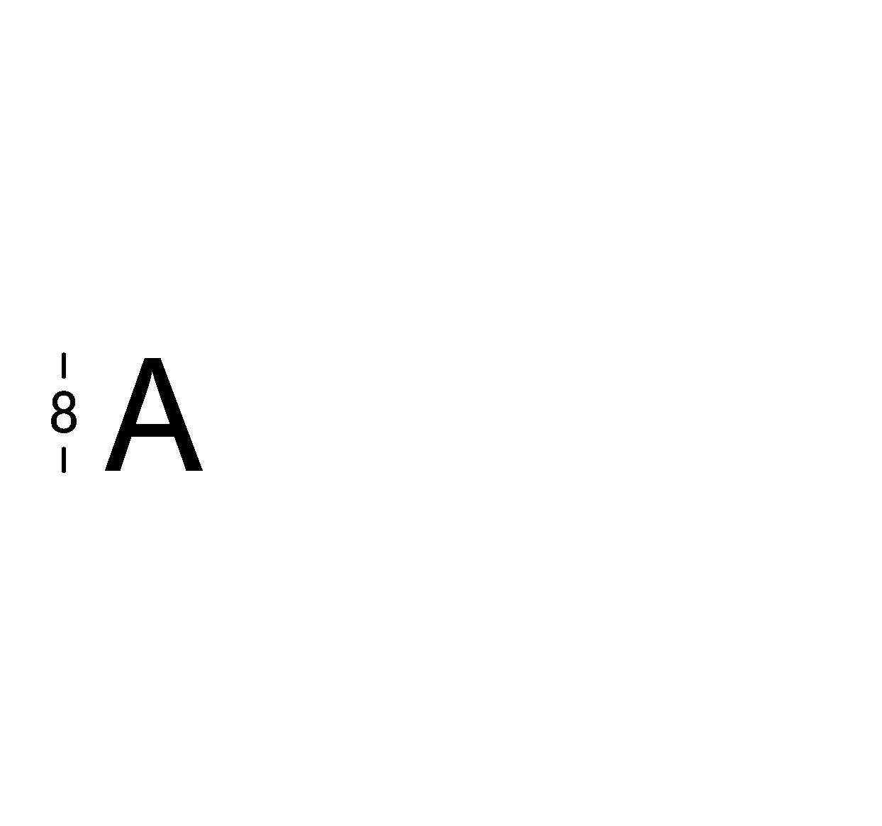 Caratteri ritagliati h8cm