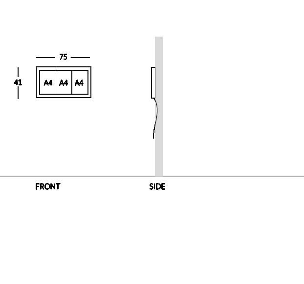 Bacheca portamenù, versione 3 fogli A4.
