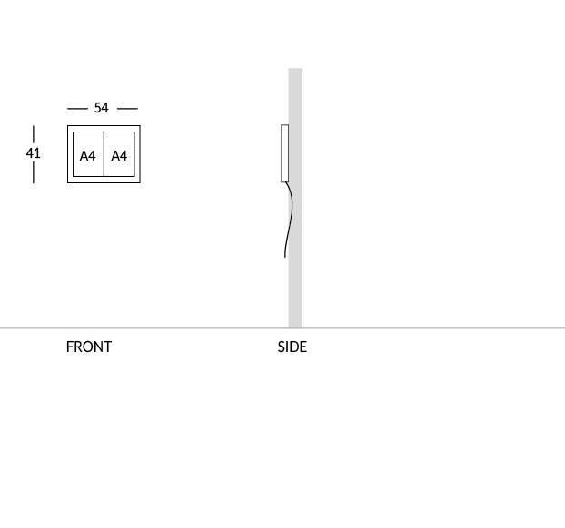 Bacheca portamenù, versione 2 fogli A4.