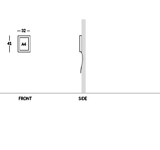Bacheca portamenù, versione 1 foglio A4.