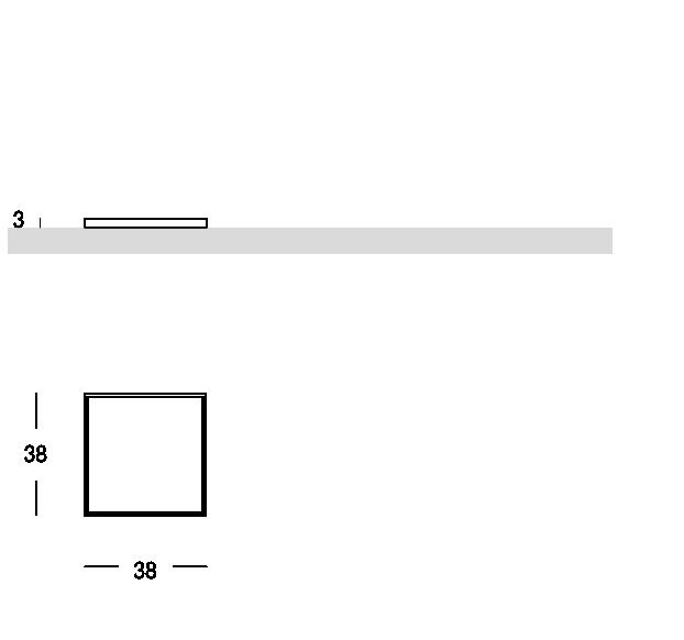 Vassoio quadrato