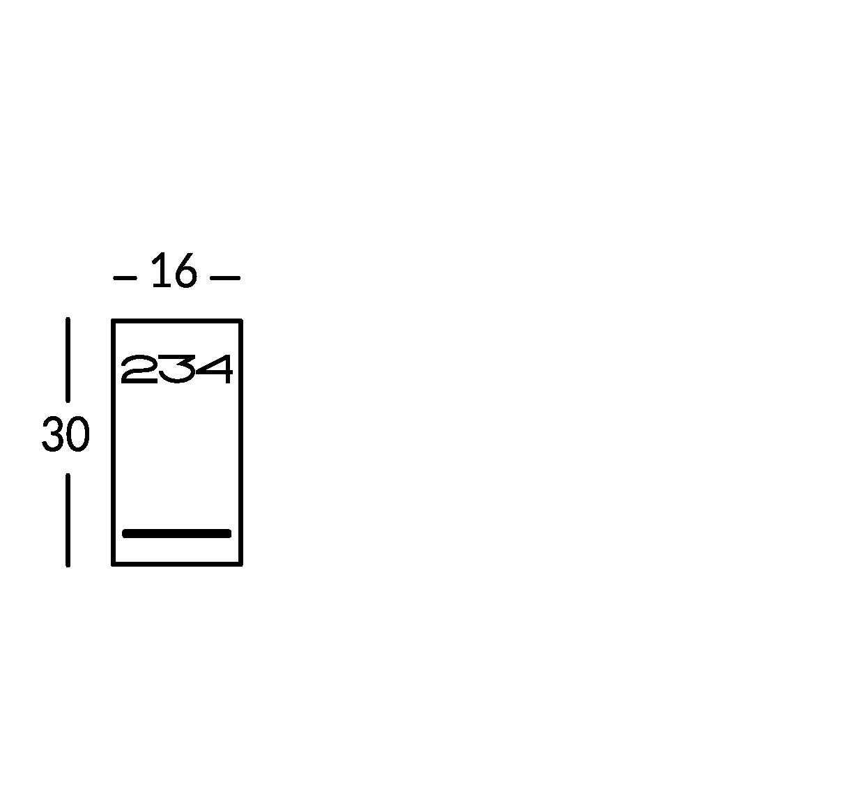 Linea di segnaletica luminosa  in metallo con caratteri traforati e supporto in Plexiglas.
