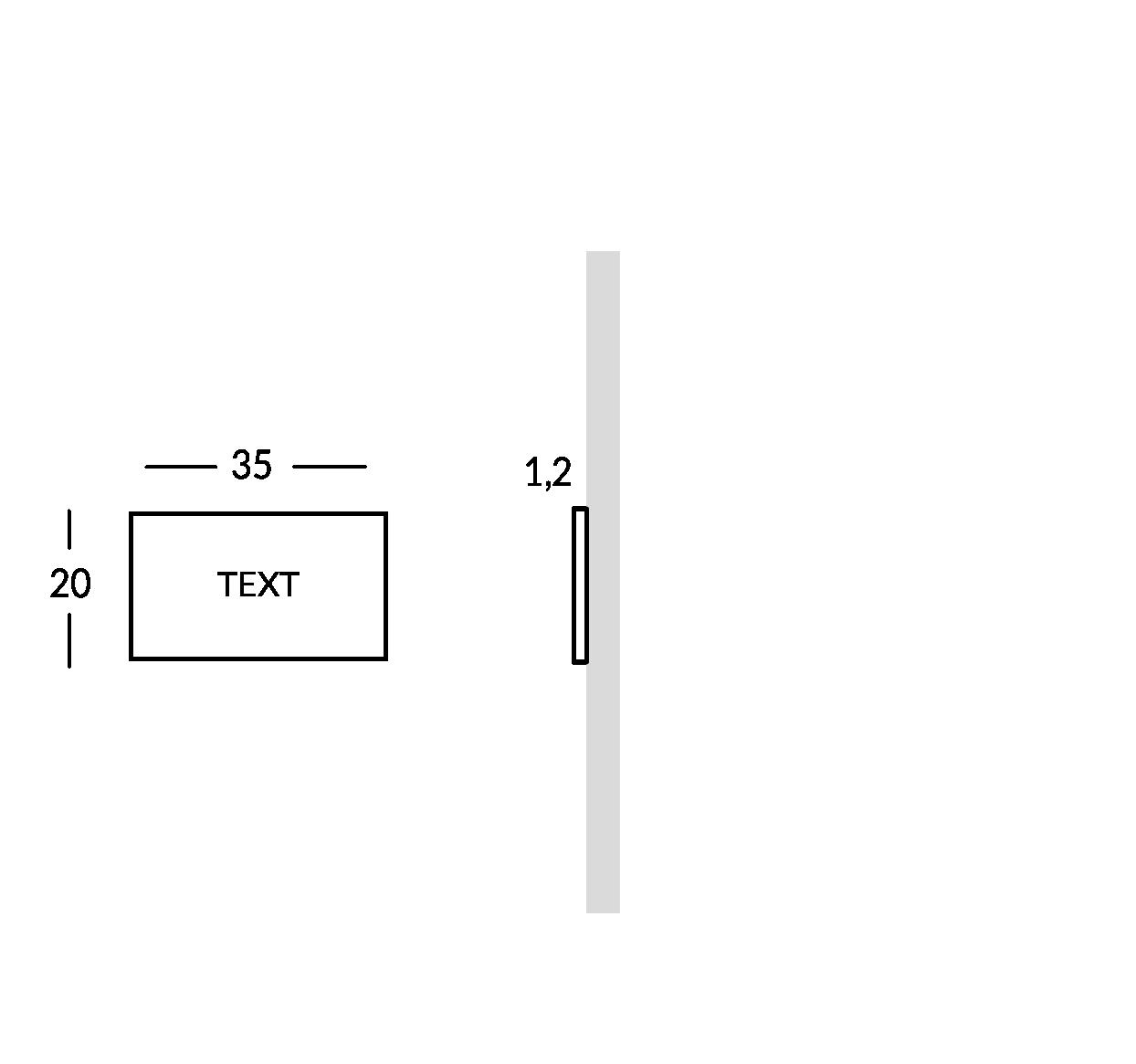 Insegna esterna, versione XS