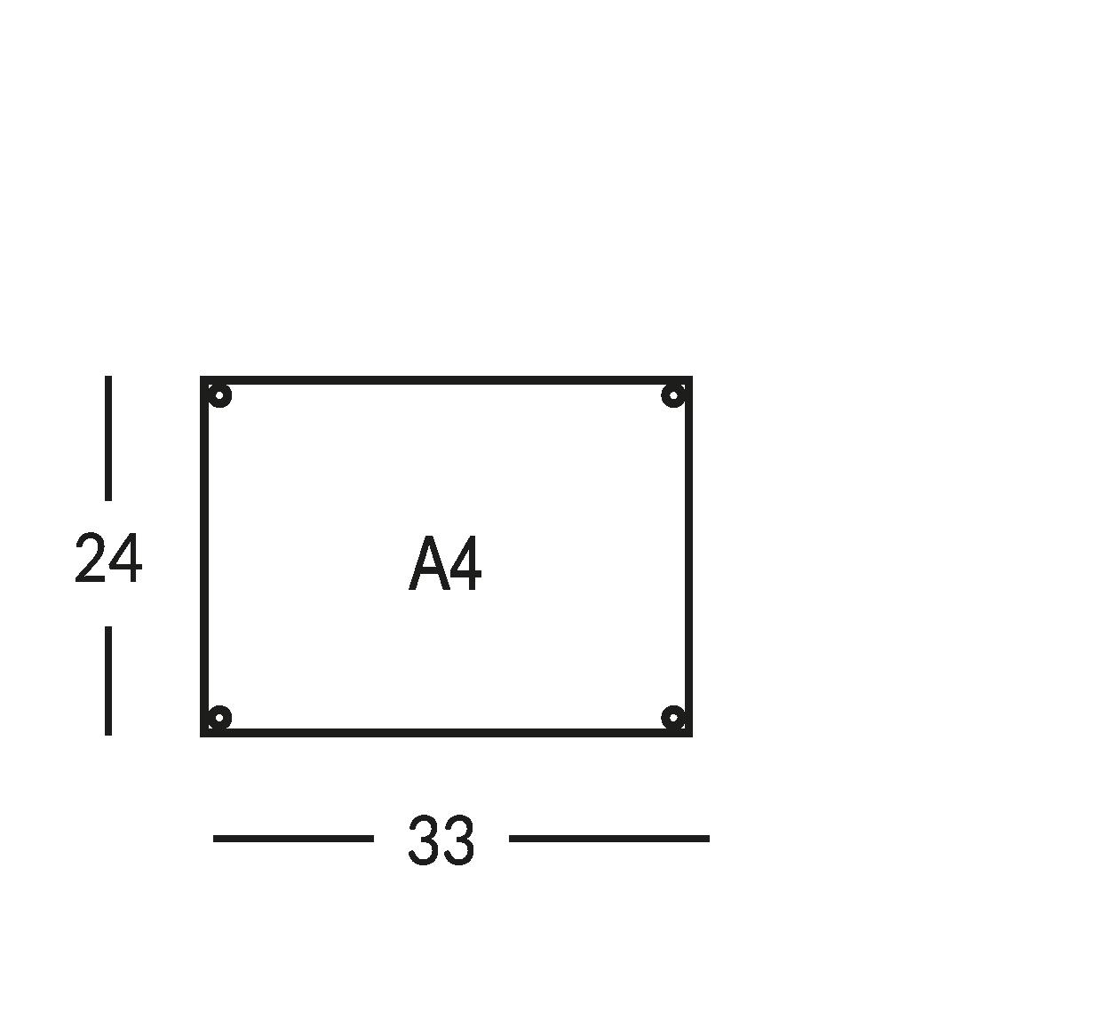 Planimetria di sicurezza, formato A4