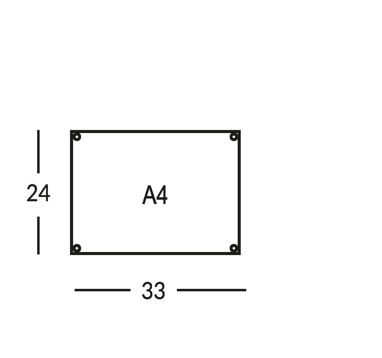 Supporti per planimetria sicurezza, formato A4