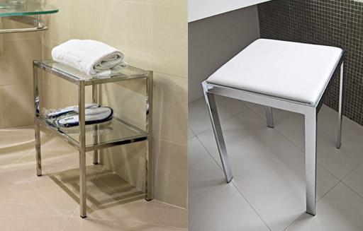Sgabello e mobiletto bagno